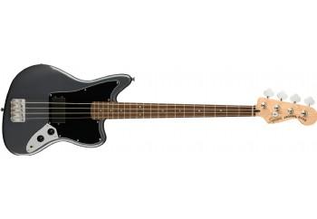 Squier  Affinity Series Jaguar Bass H Charcoal Frost Metallic - Indian Laurel - Bas Gitar