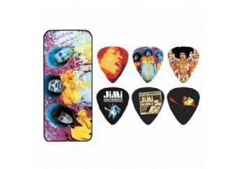 Dunlop Jimi Hendrix Collector Series Pick Tins 12 Adet - Medium-Are you experinced - Pena