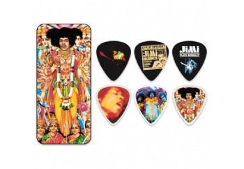 Dunlop Jimi Hendrix Collector Series Pick Tins 12 Adet - Medium-Bold as love - Pena