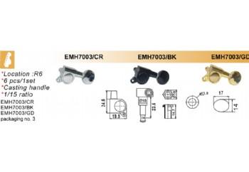 Dr.Parts EMH7003 BK (Black) - Elektro Gitar Akort Burgusu