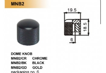 Dr. Parts MNB2 Dome Knob CR (Crhome) - Potans Düğmesi