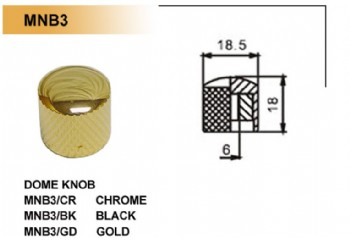 Dr. Parts MNB3 Metal Knobs BK (Black) - Potans Düğmesi