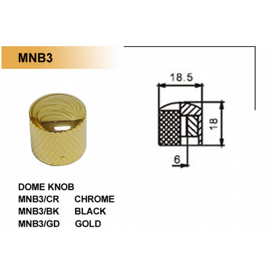 Dr. Parts MNB3 Metal Knobs