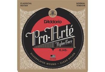 D'Addario EJ45 Pro-Arté Nylon, Normal Tension Takım Tel - Klasik Gitar Teli