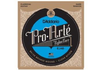 D'Addario EJ48 80/20 Bronze Pro-Arté Nylon, Hard Tension Takım Tel - Klasik Gitar Teli
