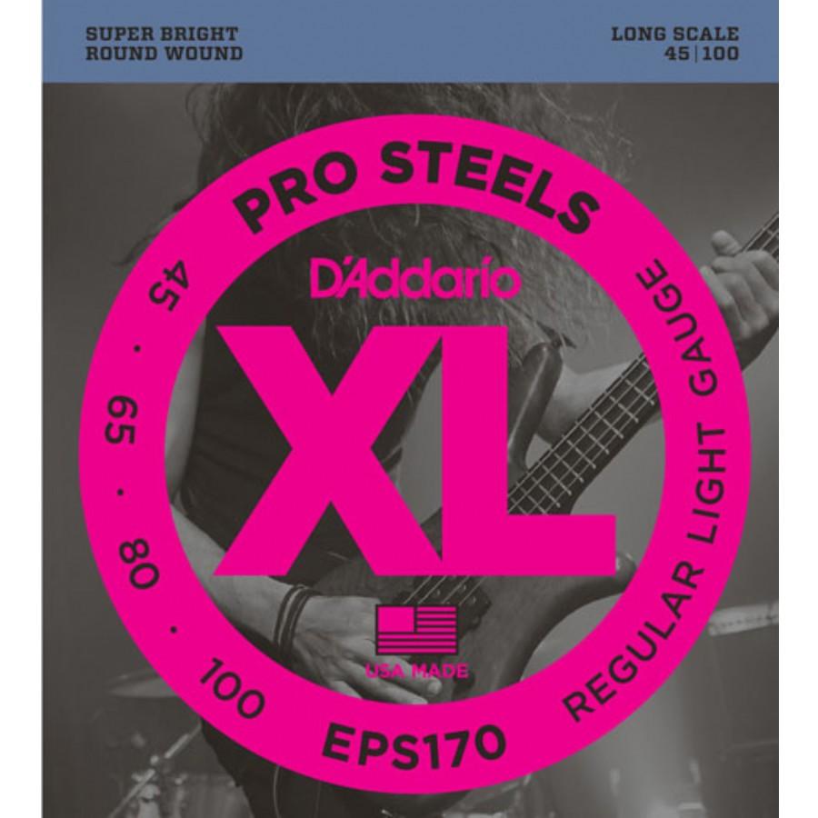 .100 Long Scale DAddario PSB100 ProSteels Bass Guitar Single String
