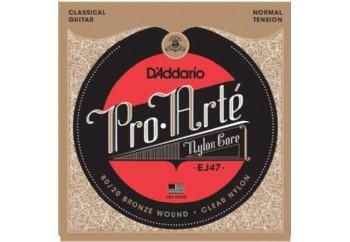 D'Addario EJ47 80/20 Bronze Pro-Arté Nylon, Normal Tension Takım Tel - Klasik Gitar Teli