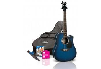 Ashton D25CEQ Starter Pack TBB-Transparan Mavi - Elektro Akustik Gitar Seti
