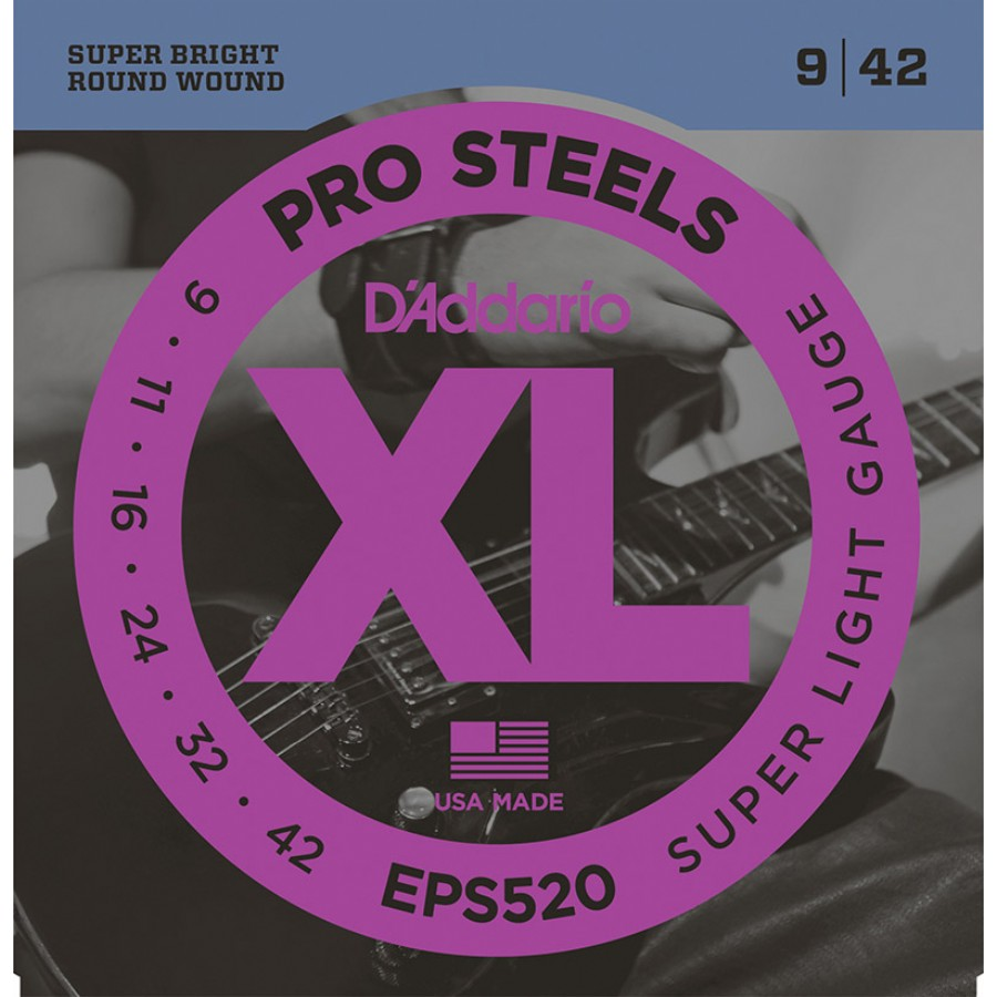 D'Addario EPS520 ProSteels, Super Light, 9-42