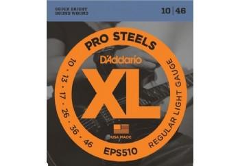 D'Addario EPS510 ProSteels, Regular Light, 10-46 Takım Tel - Elektro gitar teli 010-046