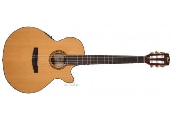 Cort CEC7 NAT - Naturel - Elektro Klasik Gitar