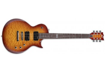 LTD EC-100QM FCSB -     Faded Cherry Sunburst - Elektro Gitar
