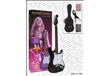 Valencia Gypsy Rose GRE1KC BK - Koyu Şampanya - Elektro Gitar Seti