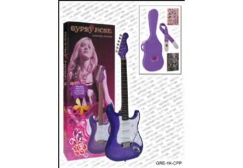 Valencia Gypsy Rose GRE1KC PP - Purple (Mor) - Elektro Gitar Seti