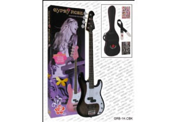Valencia Gypsy Rose GRB1KC BK - Koyu Şampanya - Bas Gitar Seti