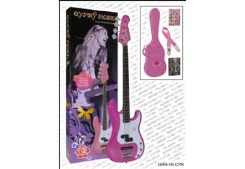 Valencia Gypsy Rose GRB1KC PK - Pembe - Bas Gitar Seti