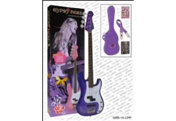 Valencia Gypsy Rose GRB1KC PP - Sampagne Purple Mor - Bas Gitar Seti