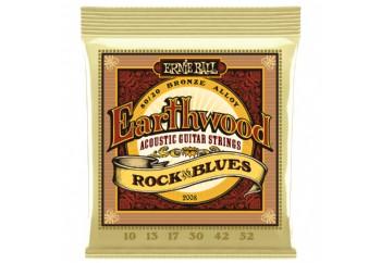 Ernie Ball Earthwood Rock and Blues 80/20 Bronze Takım Tel - Akustik Gitar Teli 010-052