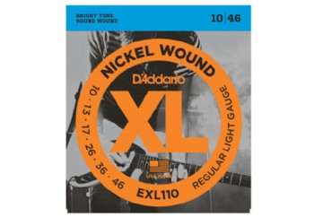 D'Addario EXL110 Nickel Wound, Regular Light Takım Tel - Elektro Gitar Teli 010-046