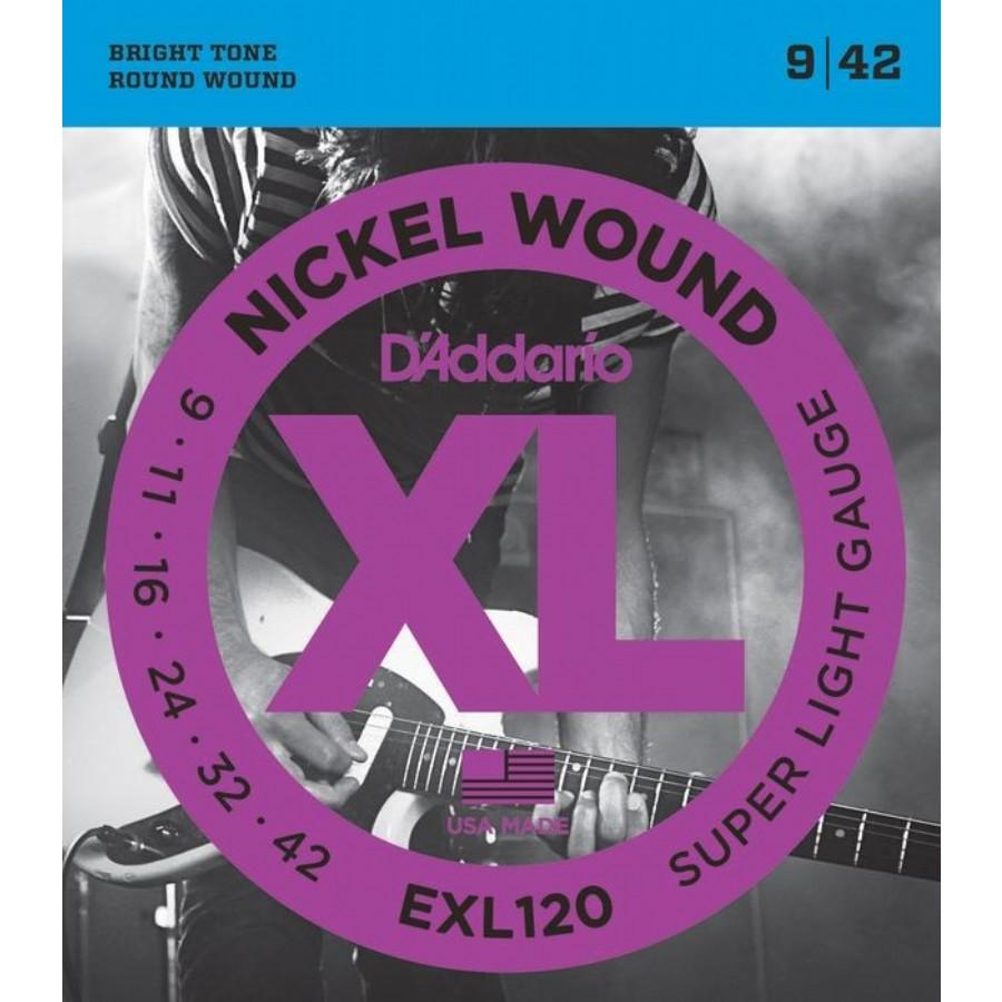 D'Addario EXL120 Nickel Wound, Super Light