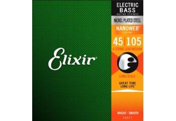 Elixir 14077 Medium Takım Tel - Bas Gitar Teli 045-105