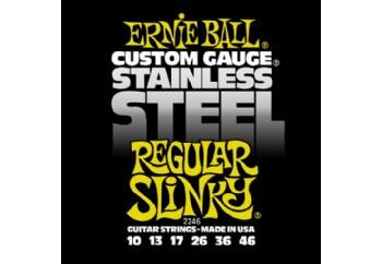 Ernie Ball 2246 Stainless Steel Regular Slinky Takım Tel - Elektro Gitar Teli 010