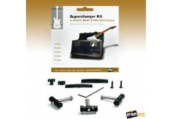 GraphTech Supercharger Strat and Tele Style Guitars Kit A PX-8163-00 - Köprü ve Eşik Seti