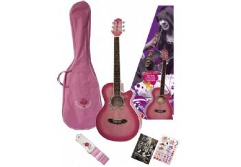 Valencia GRA1KC PK - Pembe - Akustik Gitar Seti
