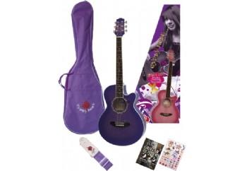 Valencia GRA1KC PP - Mor - Akustik Gitar Seti