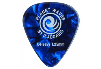 Planet Waves Classic Celluloid Blue Pearl X-Heavy 1.25mm - 1 Adet
