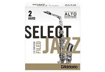 D'addario Select Jazz Alto Saxophone Filed Reeds 2H - Hard - Alto Saksofon Kamışı