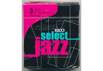 D'addario Select Jazz Alto Saxophone Filed Reeds 3S - Soft - Alto Saksofon Kamışı