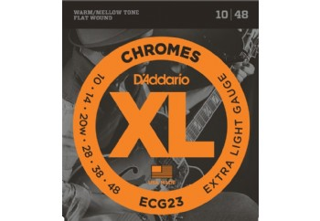 D'Addario ECG23 Chromes Flat Wound, Extra Light, 10-48 Takım Tel - Elektro Gitar Teli 010-048