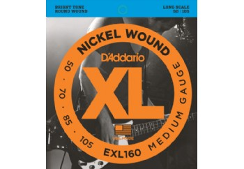 D'Addario EXL160 Nickel Wound Bass, Medium, 50-105, Long Scale Takım Tel - Bas Gitar Teli 050-105