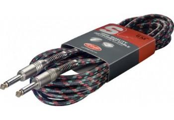 Stagg SGC6VT BK - Enstrüman Kablosu (6 mt)
