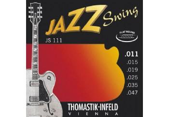 Thomastik JS111 Light Flatwound Jazz Swing Electric Guitar Strings Takım Tel - Elektro Gitar Teli 011-047