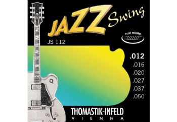 Thomastik JS112 Jazz Swing Electric Flatwound Medium Light Takım Tel - Elektro Gitar Teli 012-050