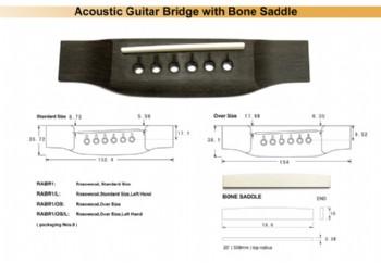 DR Parts RABR1 - Akustik Gitar Köprüsü